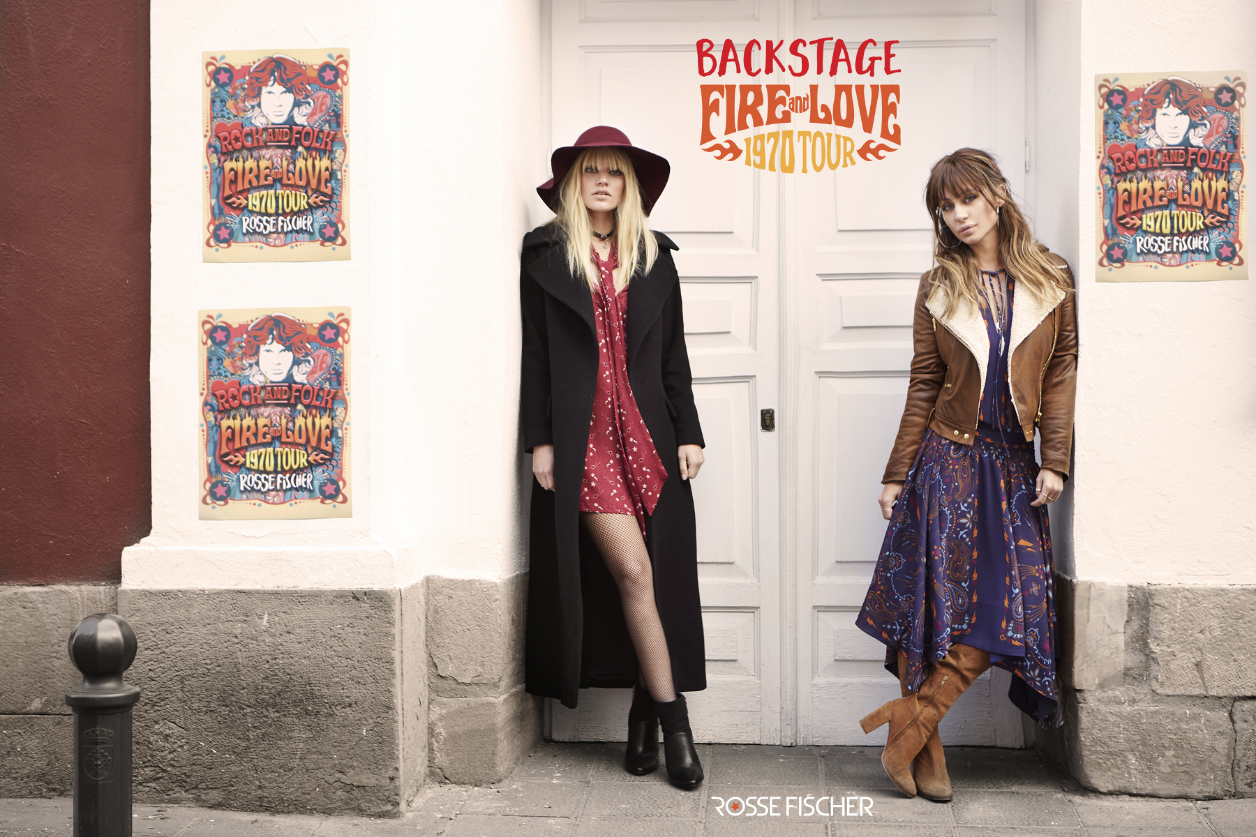 Campaign Backstage Fire and Love 1970 Tour Elena Tablada